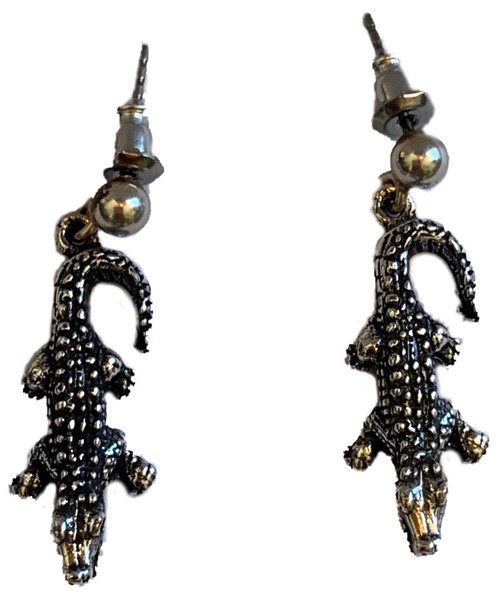 Sterling Silver Alligator Earrings