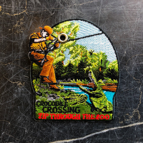 Zip Over Crocodiles Patch from Crocodile Crossing
