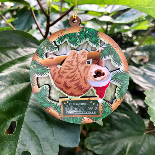 Holiday Sloth Ornament