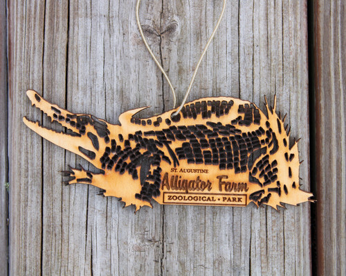 Alligator Farm Wood Ornament