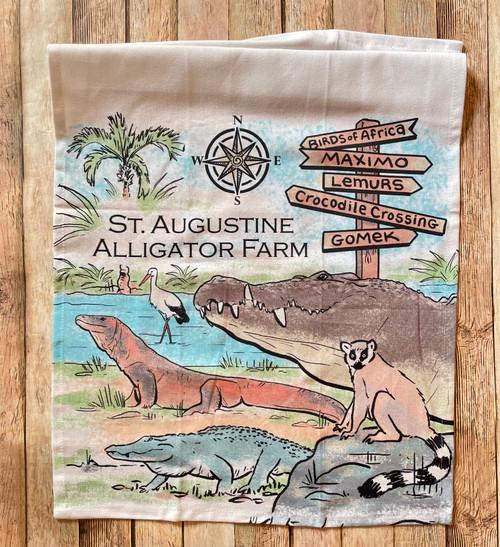 Alligator Farm Tea Towel