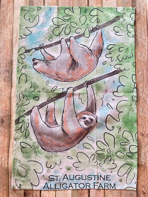 Sloth Tea Towel
