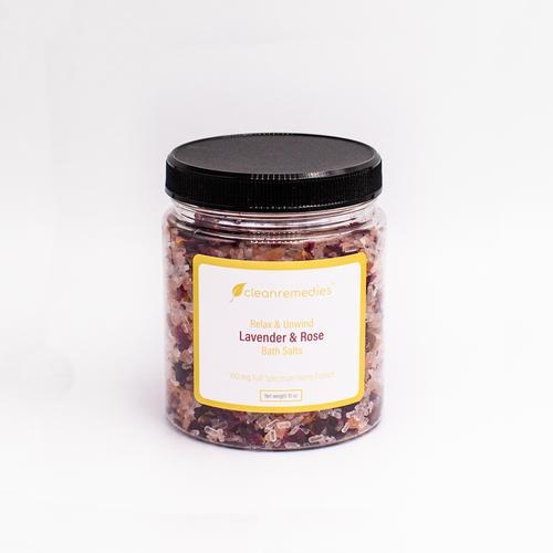 Full Spectrum CBD Lavender & Bergamot Bath Salts.