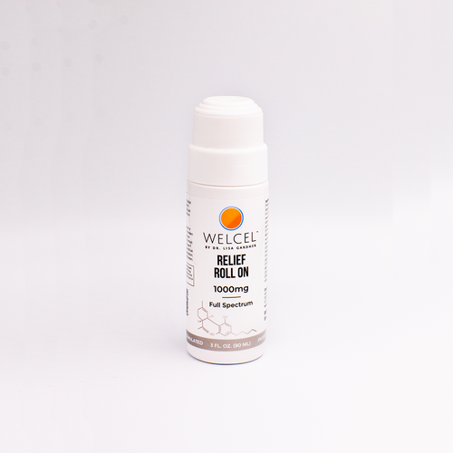 WelCel topical roll-on gel with 1000mg of Full Spectrum CBD.