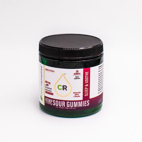 Clean Remedies CBD Sleep & Soothe Gummies.