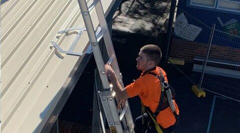 Ladder Access Bracket