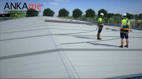 Roof anchor Static Line systems