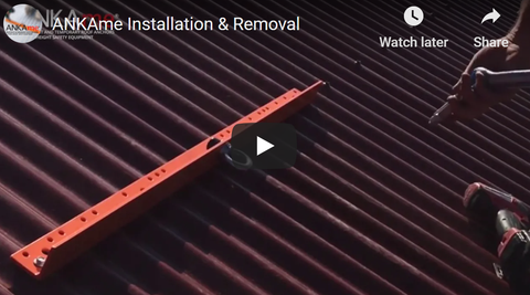 Temporary Roof Anchor Points For Metal & Tile Roofs How to Install  (Watch our install videos )