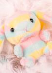 Amuse Plush Rainbow Bunny Keychain, lifestyle