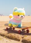 Amuse Rainbow Shiba Inu Plush Stuffed Animal, lifestyle