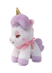Amuse Unicorn Purple Plush Keychain