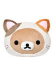Rilakkuma Cat Head Plush Pillow