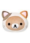 Rilakkuma Cat Head Plush Pillow