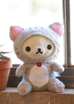 Lifestyle shot of Korilakkuma Tiger Sitting Plush Stuffed Animal