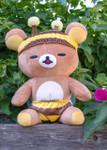 Lifestyle shot of Rilakkuma Honey Bee Laydown Plush Stuffed Animal