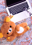 Rilakkuma Laydown Medium Long Pile Plush Stuffed Animal, lifestyle