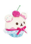 Korilakkuma Cherry Cupcake Plush Stuffed Animal Keychain