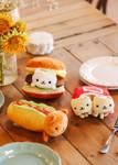 Lifestyle shot of  Nyan Nyan Nyanko™ Cheeseburger Fast Food Cat Plush