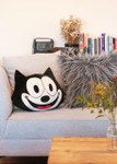 Felix The Cat Right Facing Pillow, lifestyle