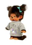 Monchhichi Girl w/ Unicorn Sweater Plush Toy - Pink