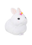 Amuse White Bunny Plush with Pink Bow - Right