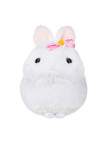 Amuse White Bunny Plush with Pink Bow - Front