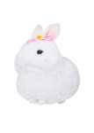Amuse White Bunny Plush with Pink Bow - Left
