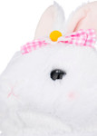 Amuse White Bunny Plush with Pink Bow - Details