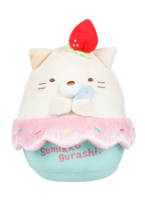 Sumikko Gurashi Neko Cat Ice Cream Plush Stuffed Animal