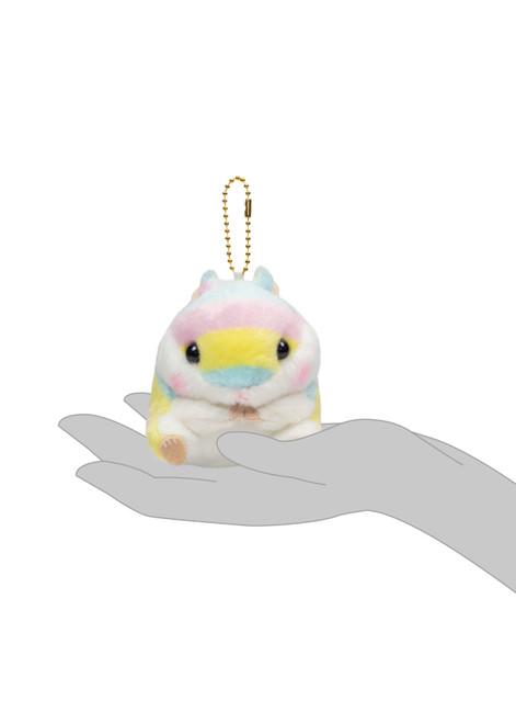 Amuse Rainbow Hamster Plush Keychain Silhouette Shot