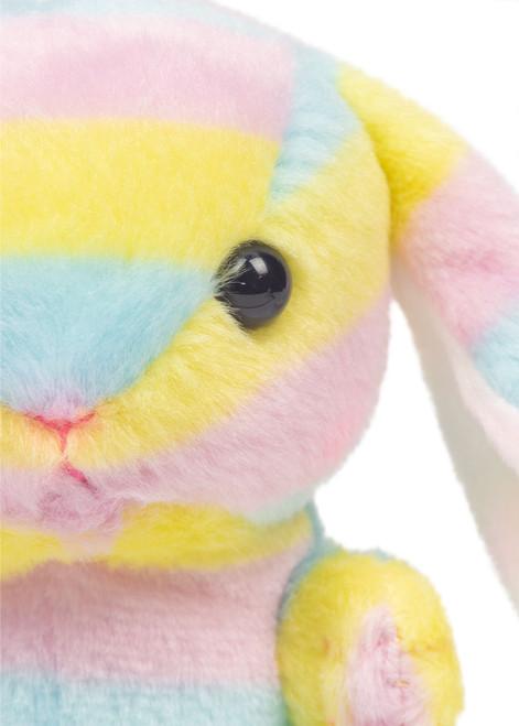 Rainbow bunny keychain detail shot