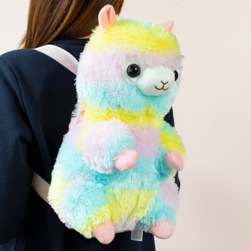 Alpacasso Rainbow Alpaca Plush Backpack