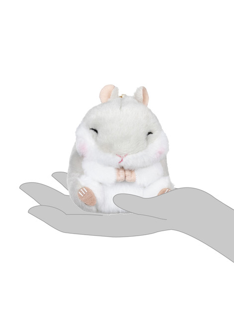 Amuse Grey Hamster Plush Keychain