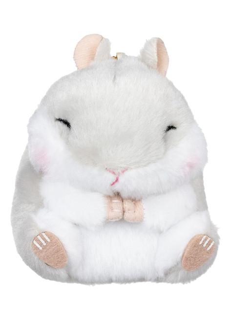 Amuse Grey Hamster Plush Keychain