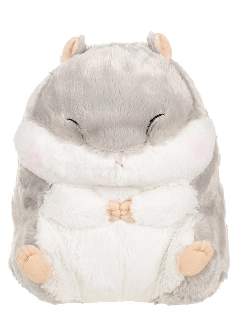 Amuse Large Grey Hamster Plush Stuffed Animal
