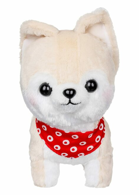 Amuse Medium Cream Shiba Inu Plush Stuffed Animal