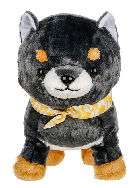 Amuse Dark Shiba Inu Plush Stuffed Animal