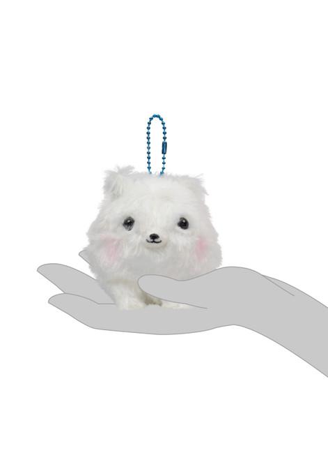 Amuse® White Pomeranian Pup Keychain