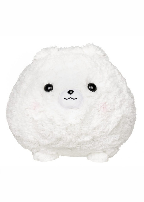 Amuse White Pomeranian Plush Stuffed Animal