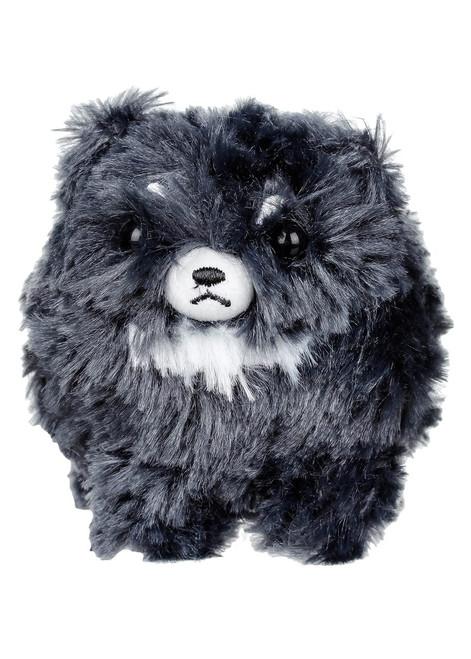 Amuse Black Pomeranian Plush Keychain