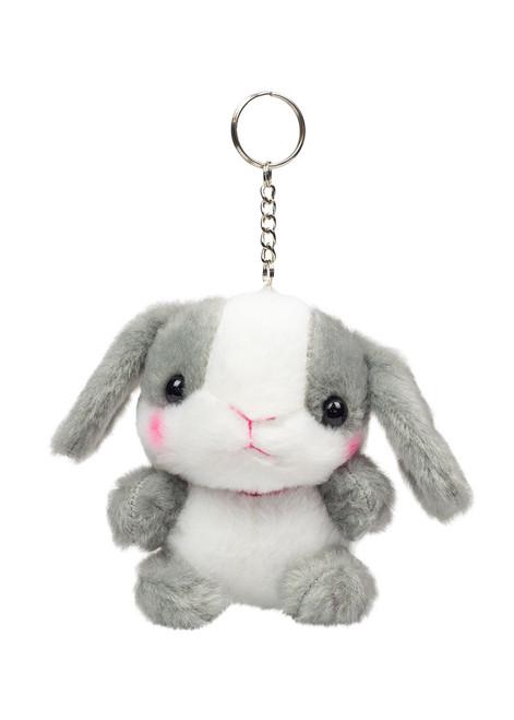 Amuse Gray Bunny Keychain Front Shot