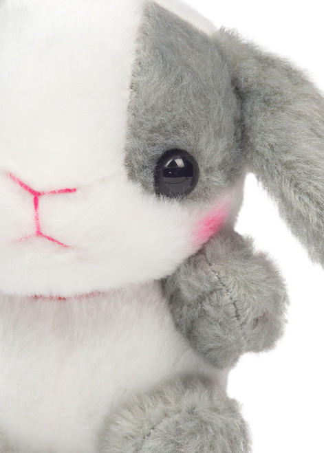 Amuse Gray Bunny Keychain Detail Shot