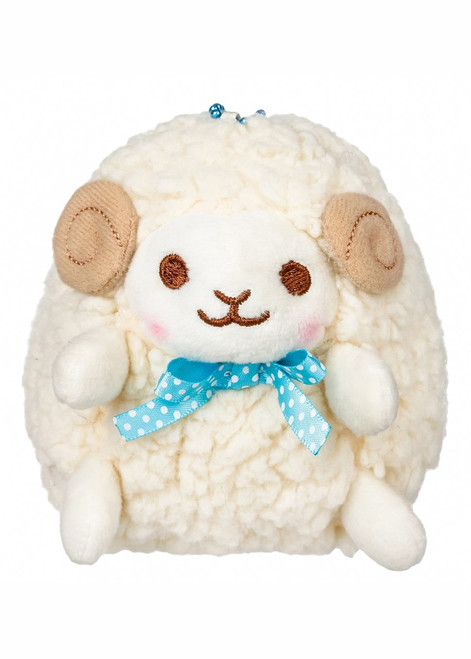Amuse Yellow Sheep Plush Stuffed Keychain
