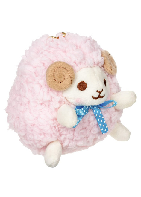 Amuse Pink Sheep Plush Stuffed Animal