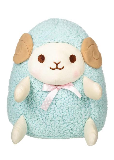 Amuse Aqua Blue Sheep Plush Stuffed Animal