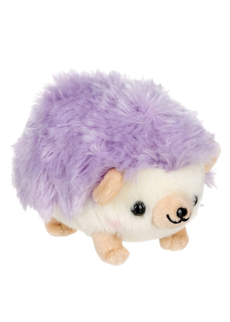 Amuse Hedgehog Lavendar Plush Keychain