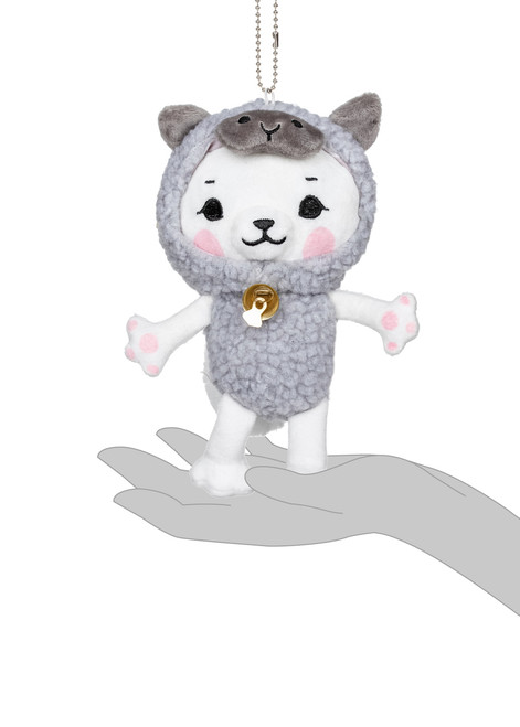 Kittygurumi Regina Sheep Plush Stuffed Keychain