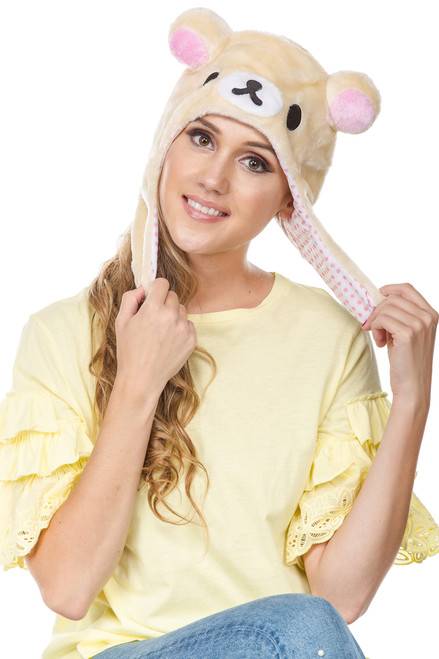 Korilakkuma Big Face Soft Beanie Hat