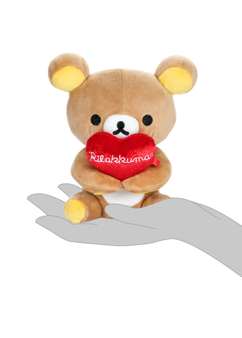 Rilakkuma Holding Heart Plush Stuffed Animal