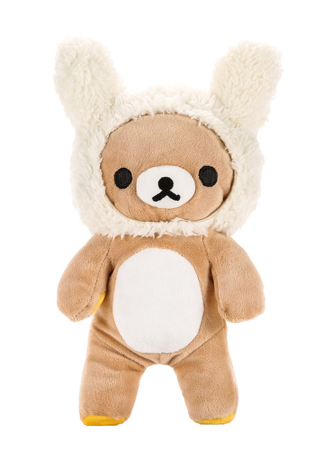 Rilakkuma Bunny Ears Plush Stuffed Animal